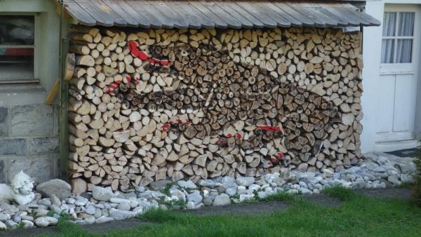 Поленница дров, как сложить дрова, навес, как хранить?