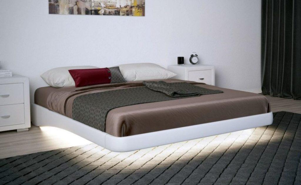 Парящая кровать в спальне: выбор модели, сочетание со стилями, как сделать своими руками