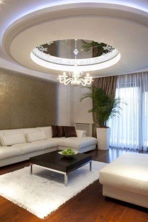 Двухуровневые натяжные потолки - стильные идеи и варианты оформления