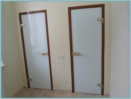 Двери для ванной и туалета - 90 фото идей обустройства интерьера!