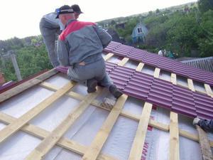 """Покрыть крышу металлочерепицей легко, или стройка своими руками — журнал """"рутвет"""""""