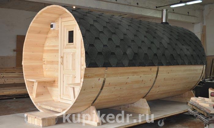 бочка баня для дачи