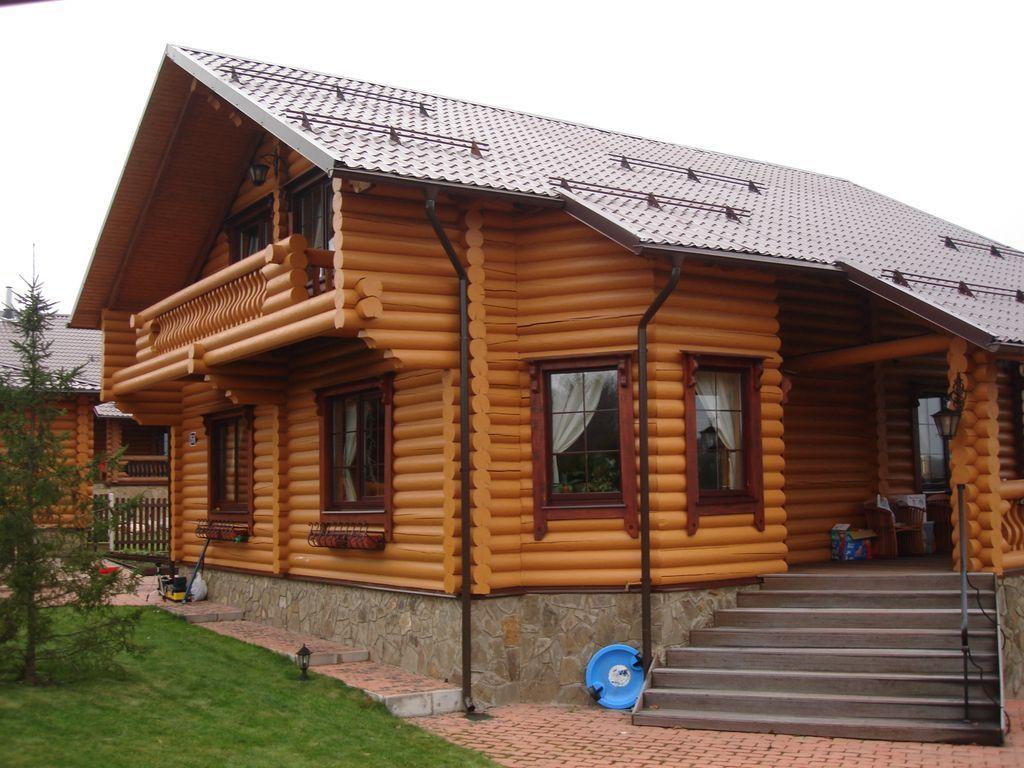 дома из бревна фото