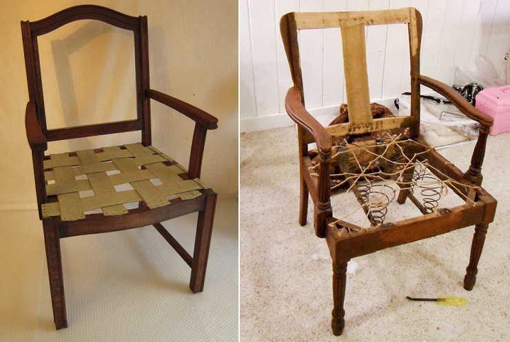 как обтянуть стул тканью своими руками