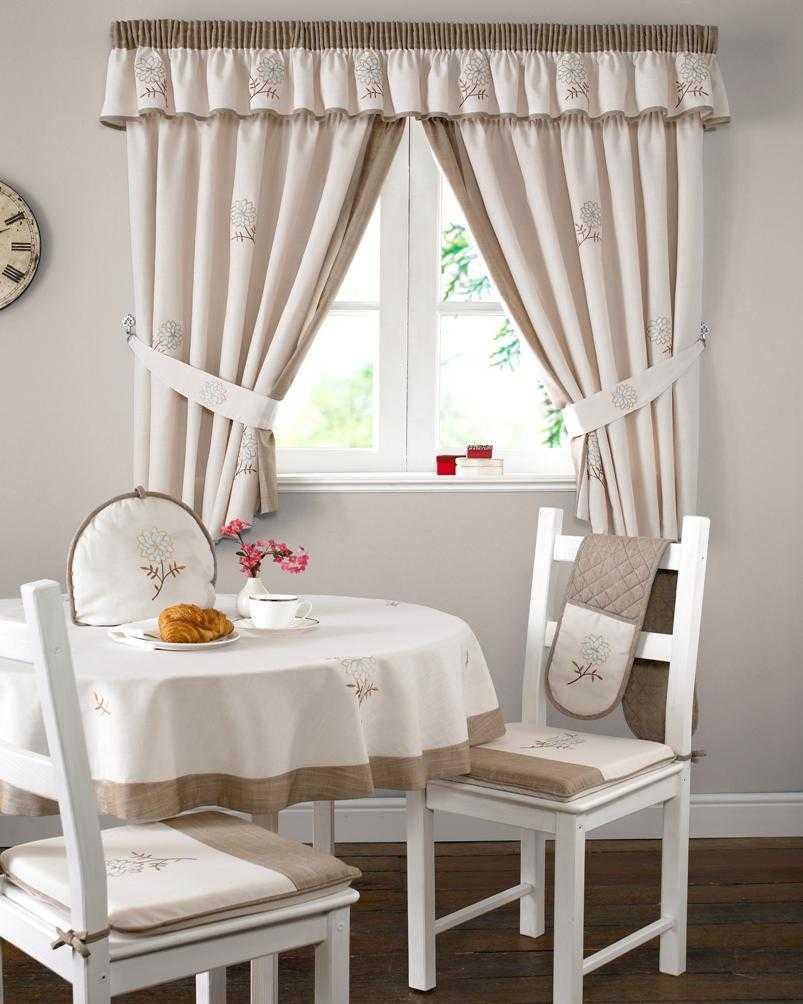 модные шторы для кухни фото