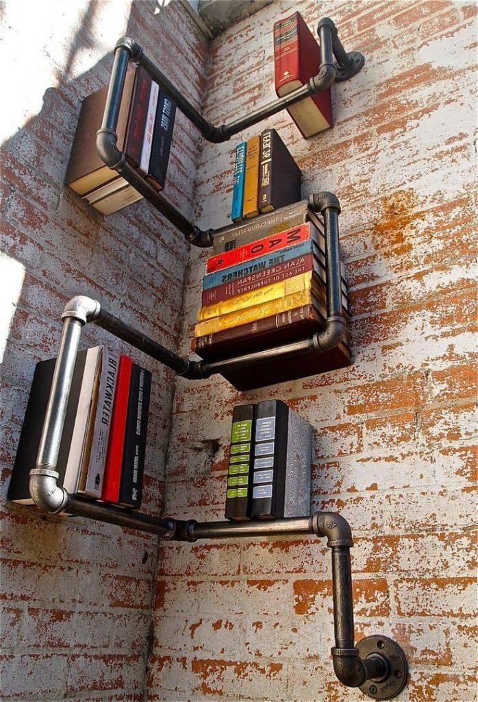 Навесные полки на стену - 40 лучших идей и мастер-классы!