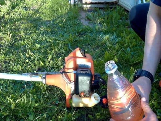 Как надо разводить бензин с маслом для триммера инструкция с описанием