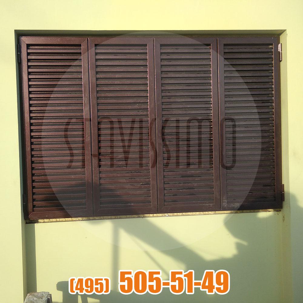 Уличные защитные жалюзи на окна (рафшторы)