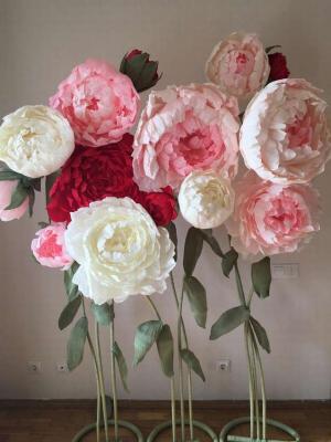 объемные цветы из гофрированной бумаги