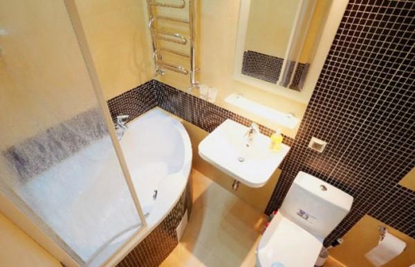 75 современных идей дизайна ванной комнаты 4 кв.м.