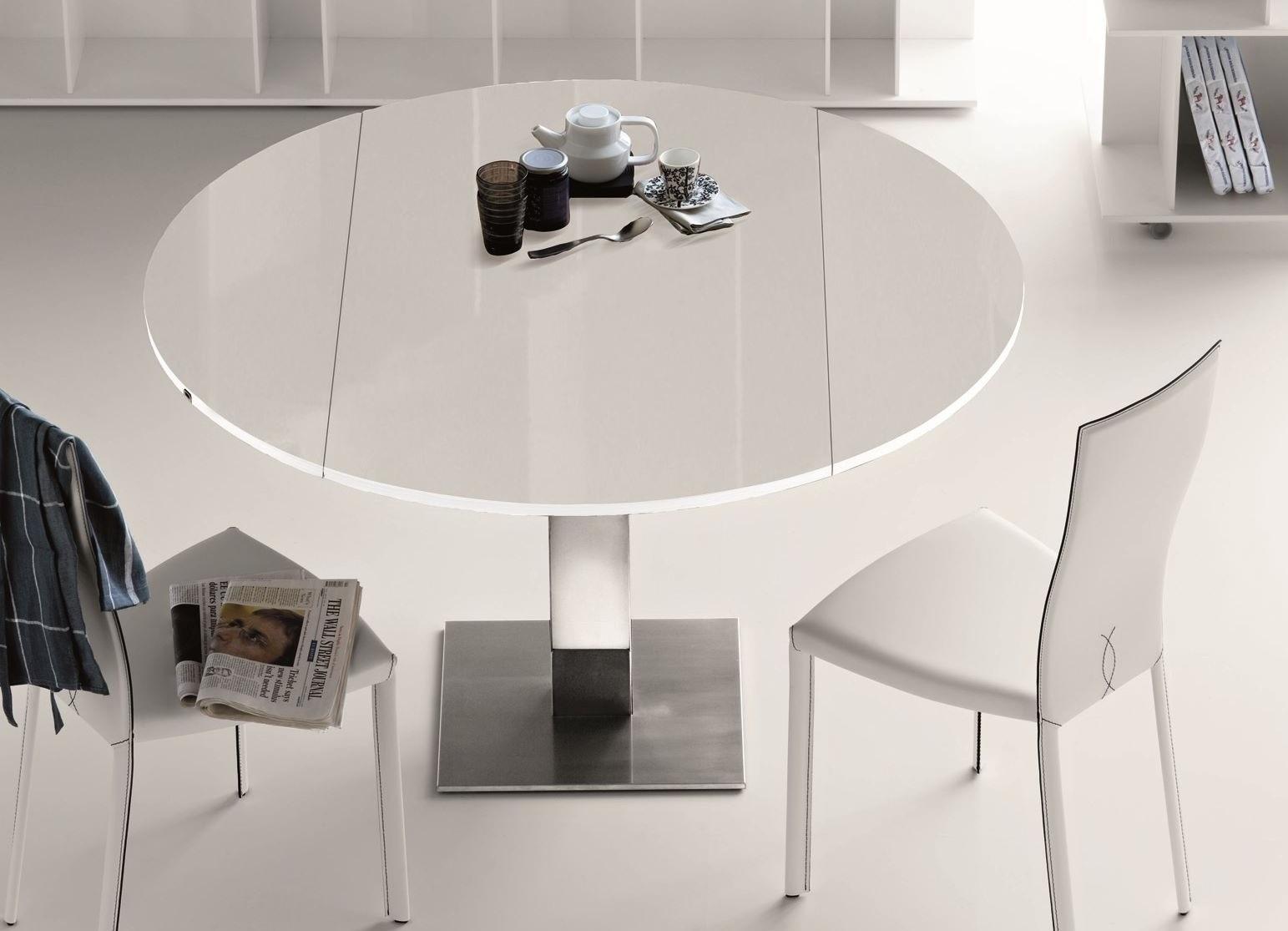 Круглый стол на кухню: плюсы и минусы, как выбрать, фото в интерьере