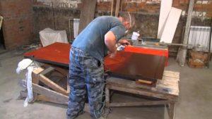 Как покрасить ворота гаража своими руками