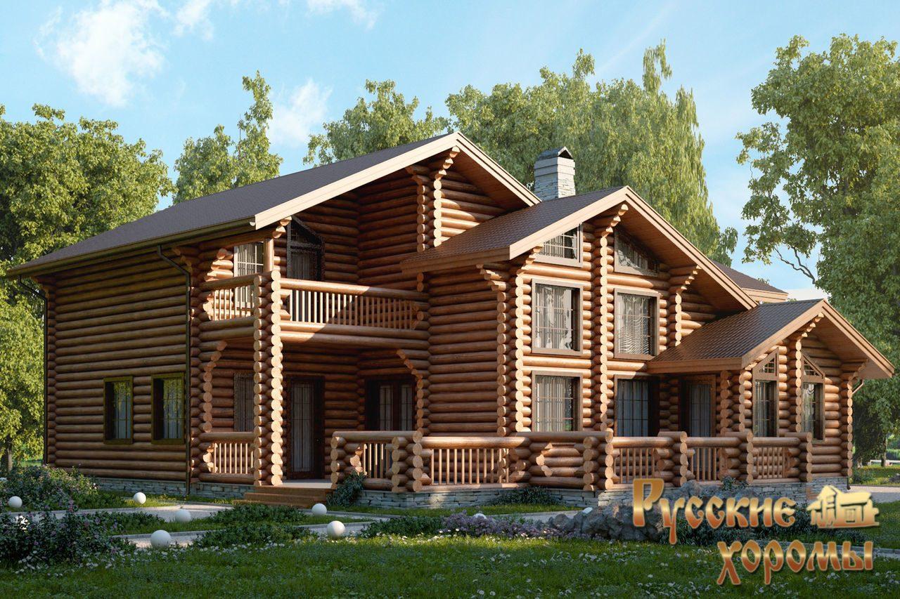 Красивые дома из оцилиндрованного бревна — стили, особенности дизайна, варианты оформления и украшения (135 фото)