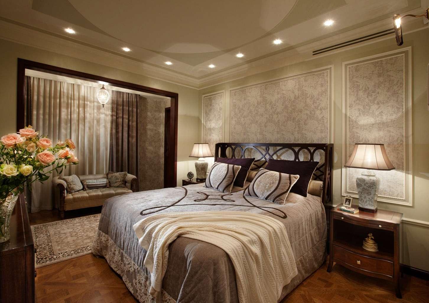 Люстра в спальню — 75 фото красивого оформления в интерьере спальни