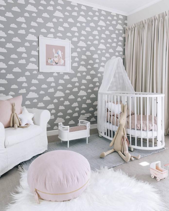 Дизайн спальни с серыми обоями: 70 лучших фото в интерьере