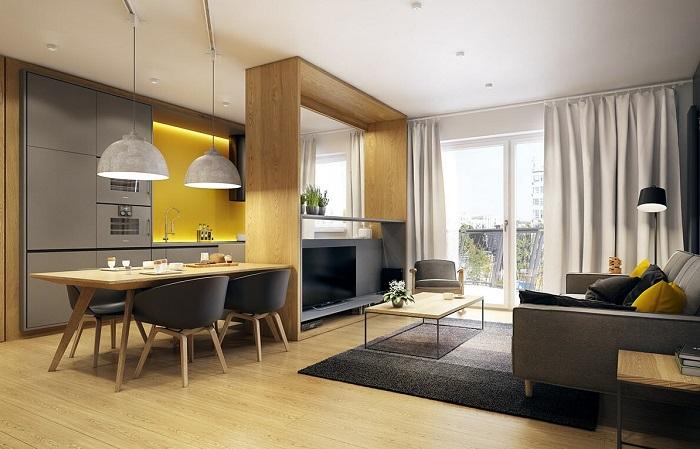 Барная стойка в кухонном интерьере - 89 фото-примеров