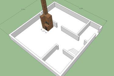 Небольшие дома с печью. рекомендации проектирования индивидуальных домов с печным отоплением