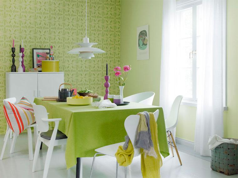 Зеленый цвет в интерьере комнат. сочетание с другими цветами