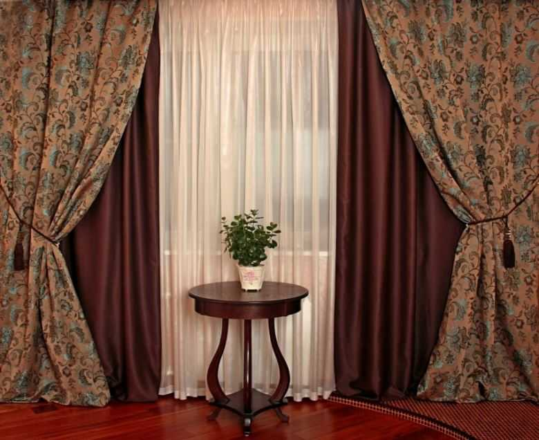 модели штор для зала