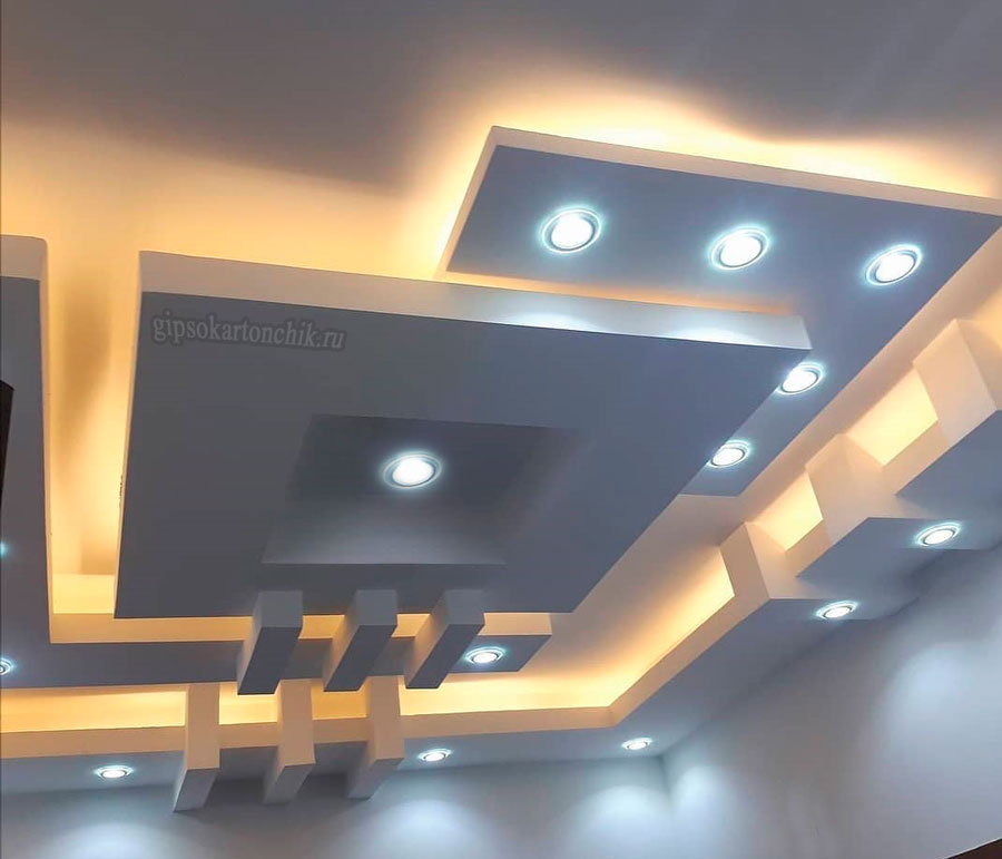 потолок гипсокартон фигура
