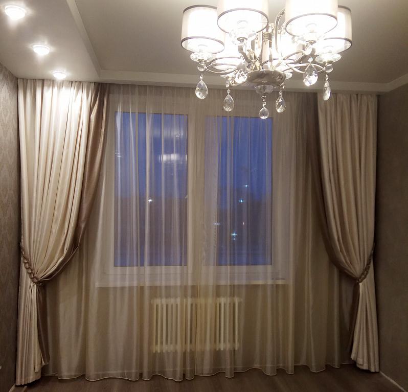 шторы на одну сторону для спальни