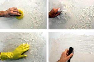 Фактурная штукатурка стен своими руками: виды декоративных фактур, фото отделки, видео уроки по нанесению
