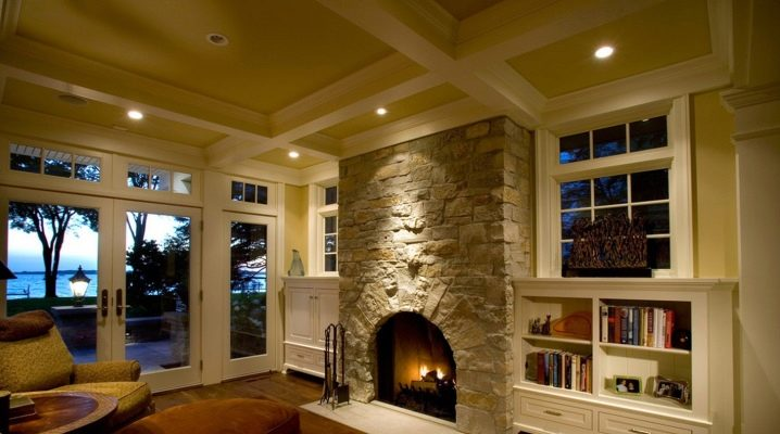 камины в интерьере частного дома