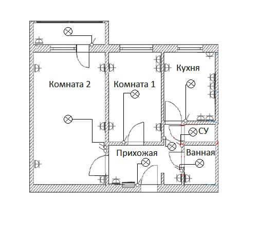 Простая схема монтажа электропроводки в частном доме | папа мастер!