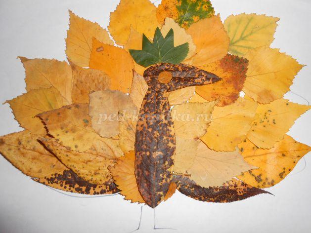 121 аппликация из листьев своим руками на тему осень