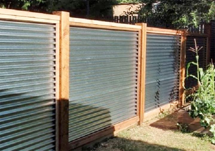 Как крепить профнастил на забор - крепление профлиста на забор