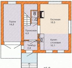 дом с печкой планировка