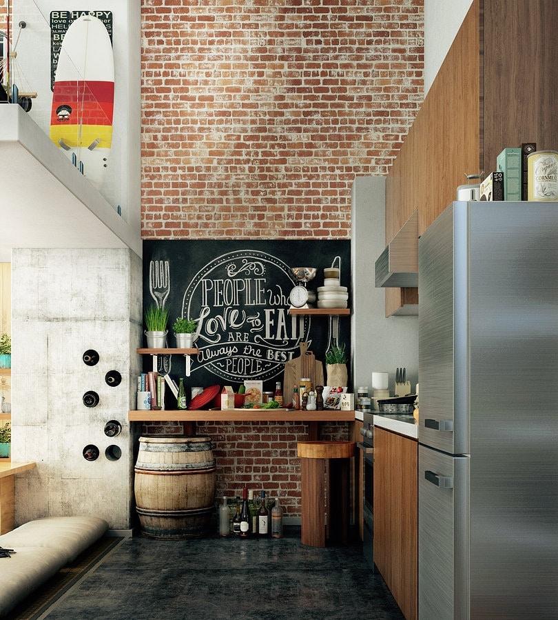 Белая кирпичная стена (64 фото): кирпич в интерьере кухни, стеновая панель для имитации кирпичной отделки