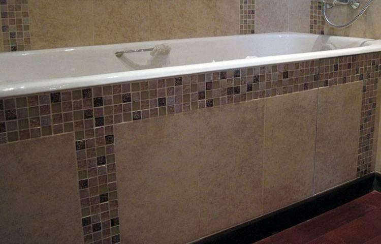 Экран из плитки под ванну: как сделать своими руками