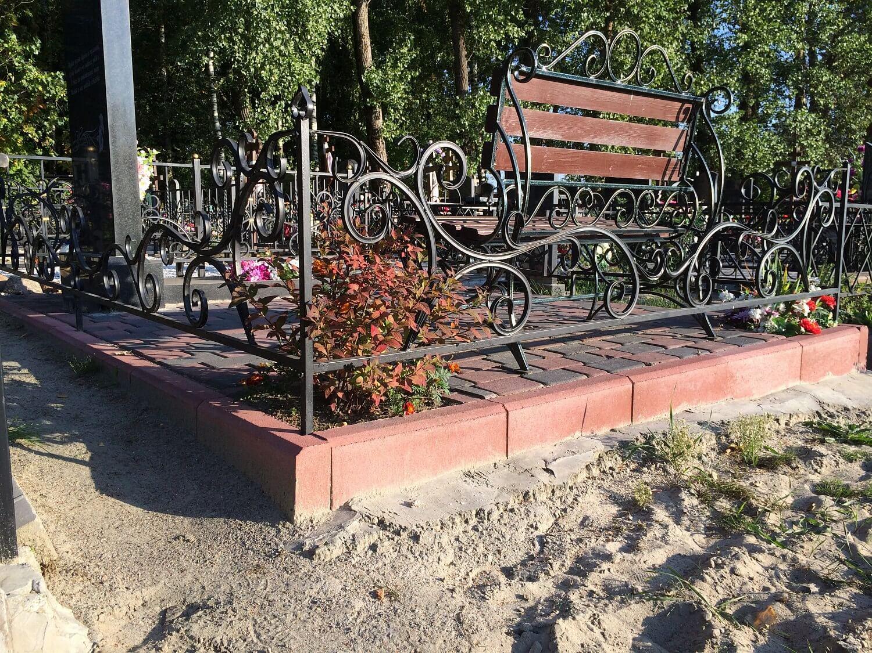 как сделать оградку на кладбище своими руками
