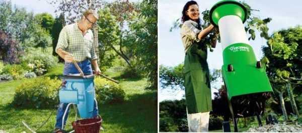 садовая дробилка для веток и травы