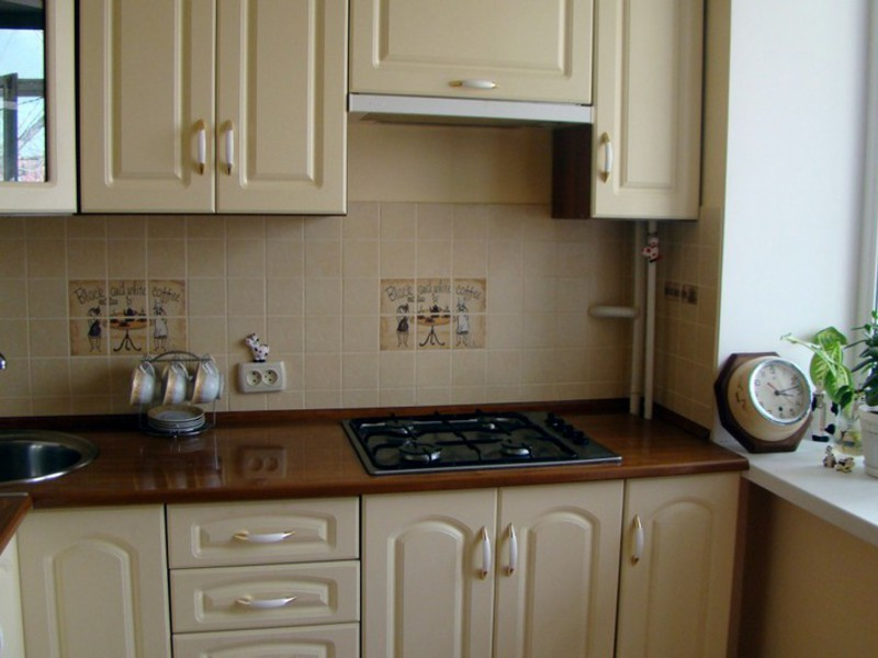 кухни в хрущевке с газовой колонкой