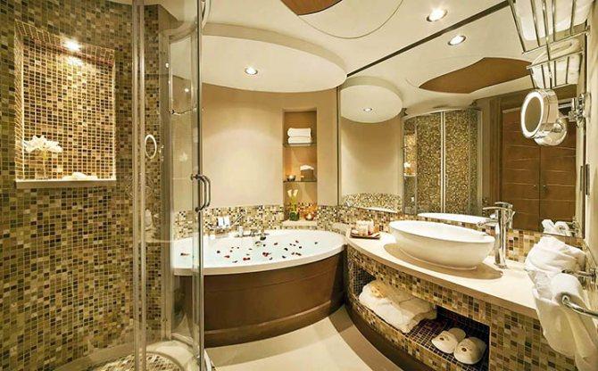 Дизайн плитки в ванной комнате: 75 стильных вариантов оформления