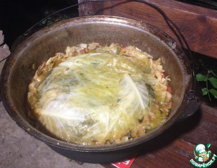 блюда в казане на костре рецепты видео