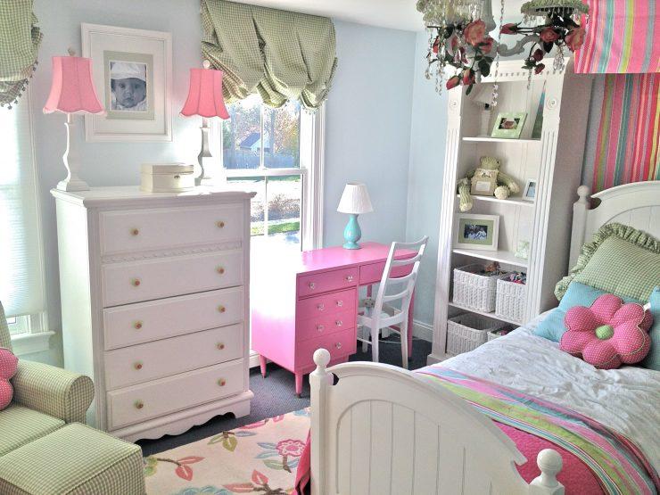 Мебель для девочки в детскую комнату (68 фото): современные модели