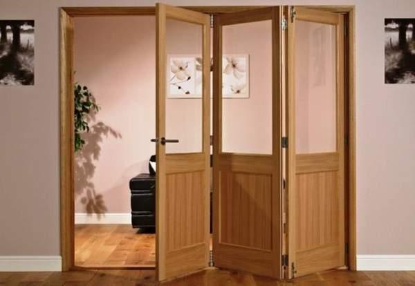 Складные двери: книжка, гармошка, межкомнатные, входные,