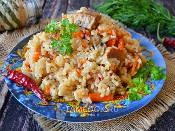 Плов в казане на костре: как приготовить, рецепты, какой нужен рис
