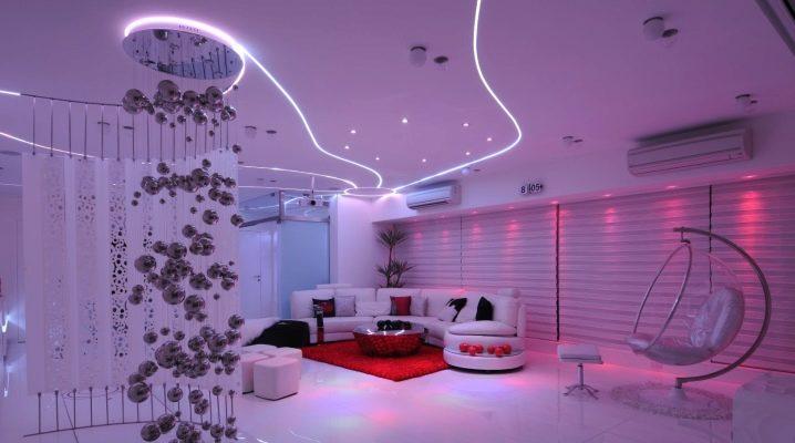 Светящиеся натяжные потолки (с полной или частичной засветкой полотна)