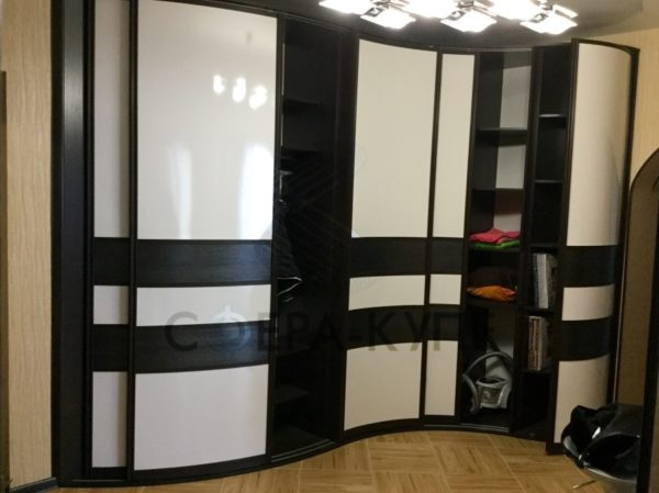 Радиусные шкафы - 65 фото новинок готовой мебели в интерьере
