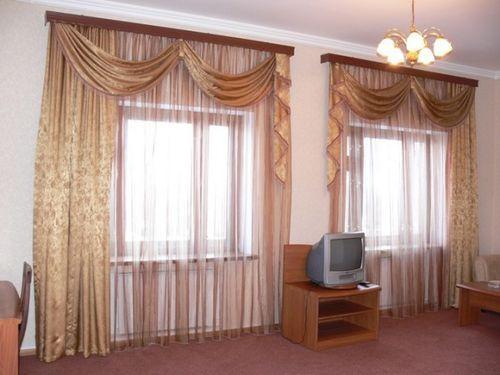 Двойные шторы: виды, ткани, дизайн, рисунки, декор, комбинирование и выбор цвета