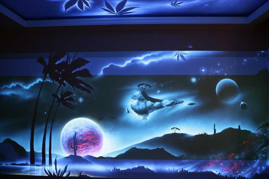 Виды светящихся обоев для стен, характеристики, особенности