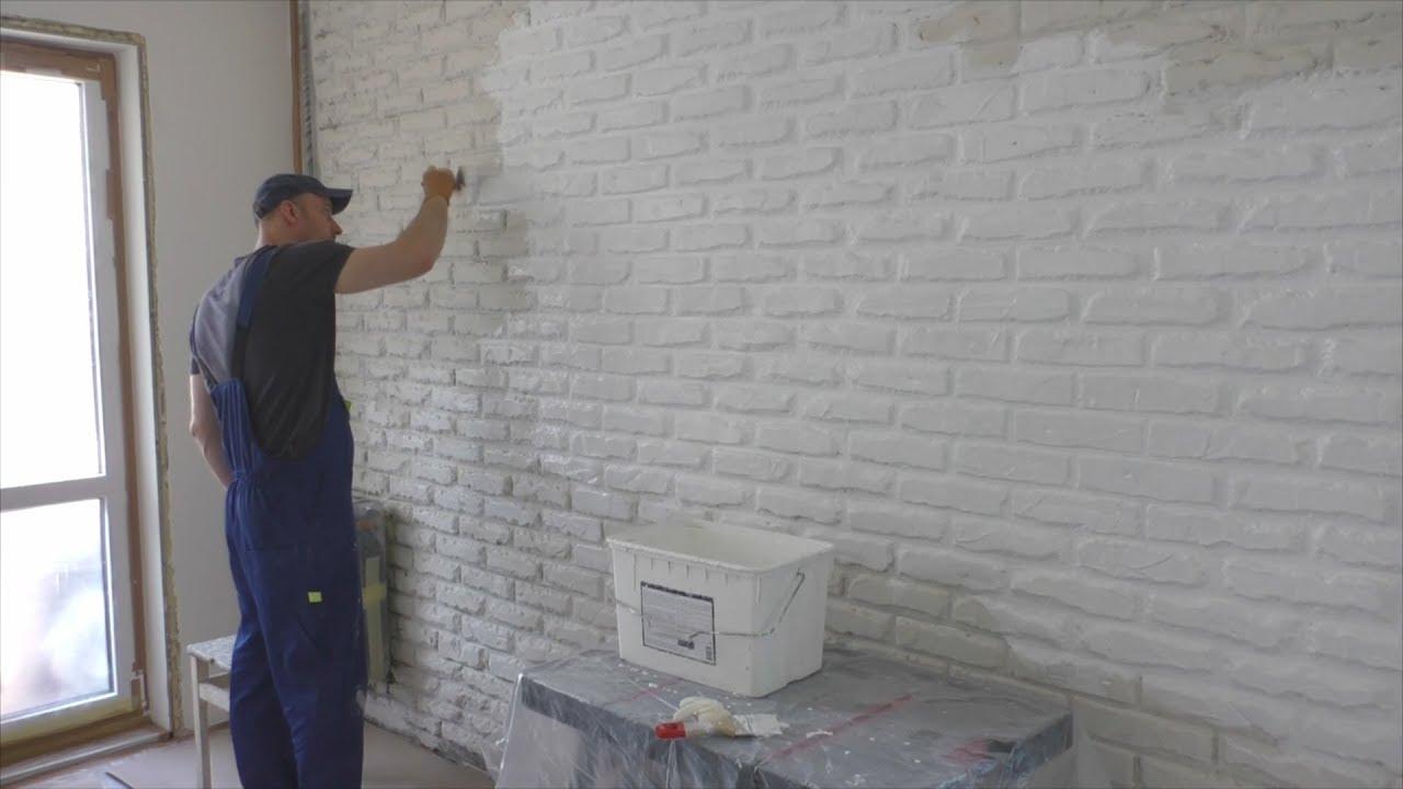 Как сделать имитацию кирпичной стены - от подготовки до финишной отделки