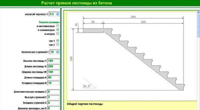 как рассчитать шаг лестницы