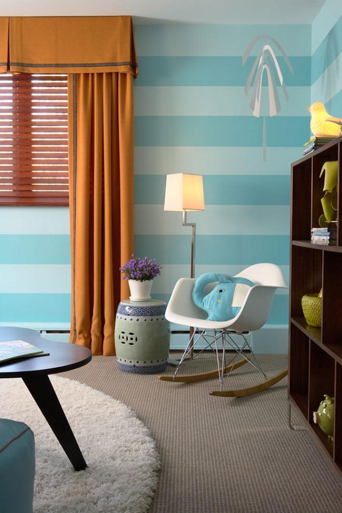 Бежево-голубая гостиная: тонкости дизайна и декорирования