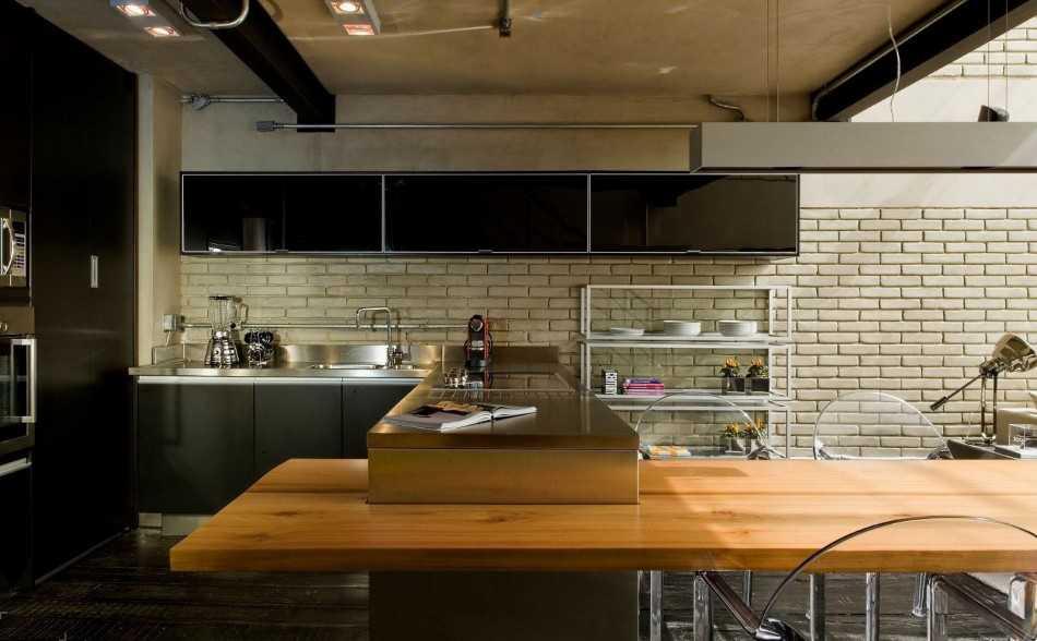 кухни лофт в недорогом интерьере