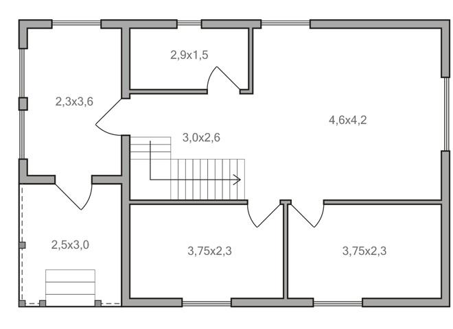 Проект дома 6 на 8 с мансардой – варианты возможных планировок
